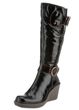 Vale Patent Leather Boot in Black