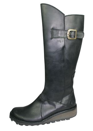 Ladies Knee High Leather `Mol` Boot in Black