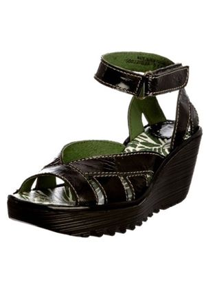 Yossa in Patent Black by Fly London