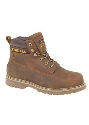 Unisex FS164 Welted Safety Boot in Brown