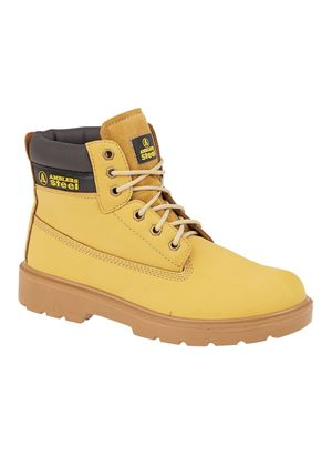 Unisex FS3 S1-P Steel Safety Boot in Honey