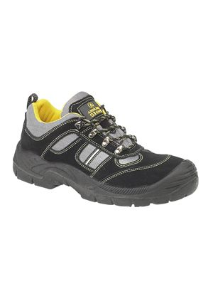 Steel FS111 Black Safety Trainer - Steel Toe Cap and Plate