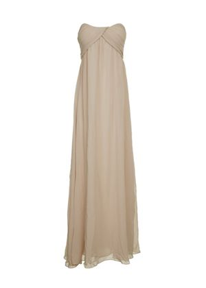 Ladies Strapless Maxi Dress in Cream