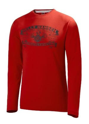 Graphic Long Sleeved T-shirt in Red
