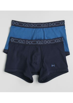 Two Pack Mens Boxers in Light and Dark Blue