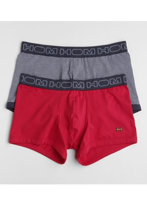 Two Pack Mens Boxers in Red and Grey