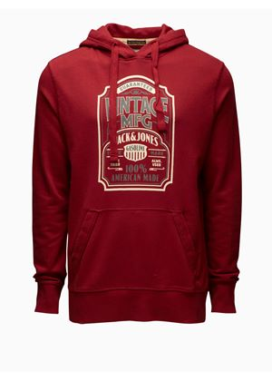 Brookville Lake Hooded Sweat in Dark Red