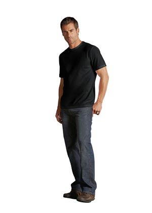 Mens Round Neck Black T-Shirt