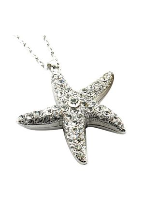 Rhinestone Starfish Pendant on a 18 inch (45) chain with a 2 inch (5) extention