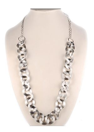 Long Circle Chain Necklace or Belt