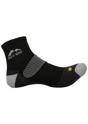 Adults cushioned LONDON running sock in Black