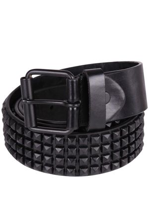 Men's 'Gorstey' Black Leather Studded Belt