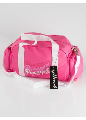 Large Gym Bag in Pink and White