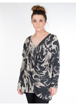 Ink Camo Leaves Print
