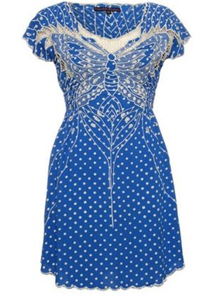 Polka Paradise Dress in Blue