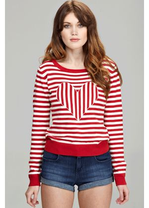 Love Me Sweet Jumper in Red and White