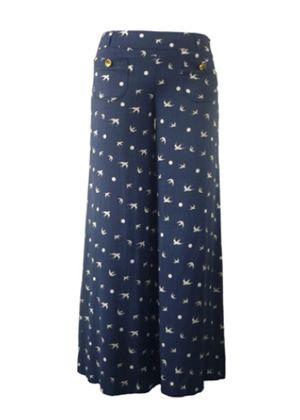 Swallow Song Palazzo Pant in Blue