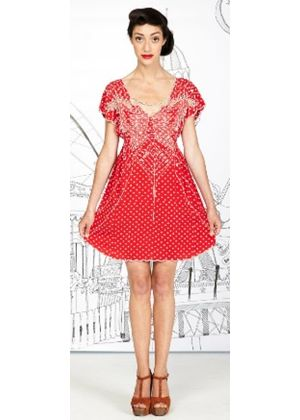 Polka Paradise Dress in Red