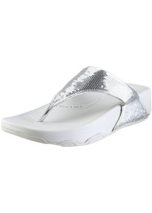 Candy Bar Tone Ups Flip Flops in Silver
