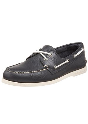 A/O Mens 2-Eye Top Sider Navy Boat Shoes