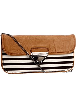 The Saffron Bag in White and Black Stripe from Traffic People
