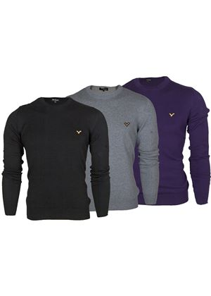 Harris Crew Neck Knit in 3 Colours