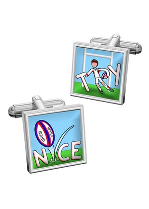 Men's Rugby themed Cufflinks