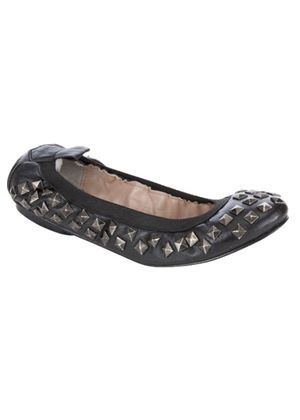 Depp Studded Gathered Edge Pumps