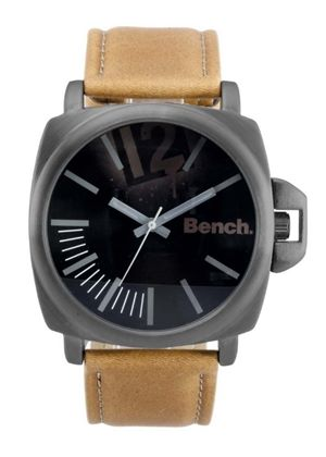 Men's Watch with Tan Polyurethane Strap
