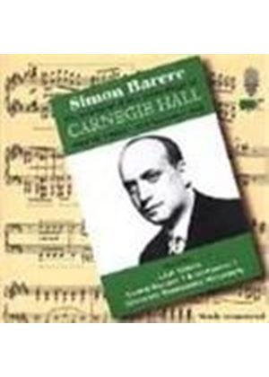 Simon Barere at Carnegie Hall