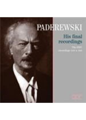 Paderewski - His Final Recordings (Music CD)