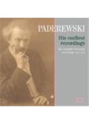 Various Composers - Paderewski - His Earliest Recordings (Music CD)