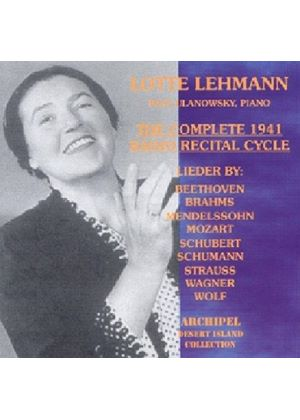 Lehmann - Complete 1941 Radio Recital Cycle