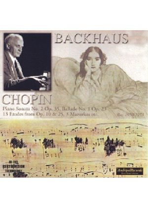 Chopin - WILHELM BACKHAUS PLAYS 1950/3
