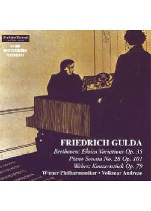 BEETHOVEN / WEBER - FREDERICH GULDA PLAYS
