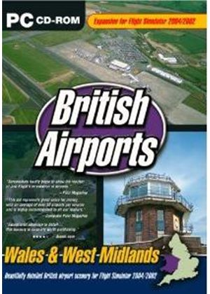 British Airports Wales & West Midlands Expansion for Flight Simulator 2004/2002 (PC CD)