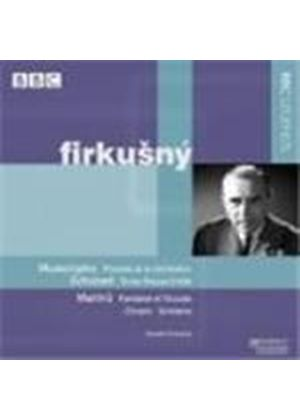 Mussorgsky: Pictures at an Exhibition; Schubert:  Three Pieces; Martinu: Fantasia & Toccata