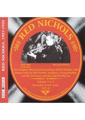 Red Nichols - Complete Brunswick Sessions, Vols. 7-9 (Music CD)