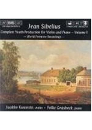 Sibelius - Complete Youth Production for Violin and Piano, Vol 1