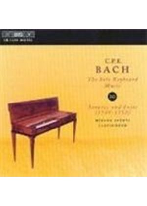Bach, CPE: Solo Keyboard Music, Vol 10