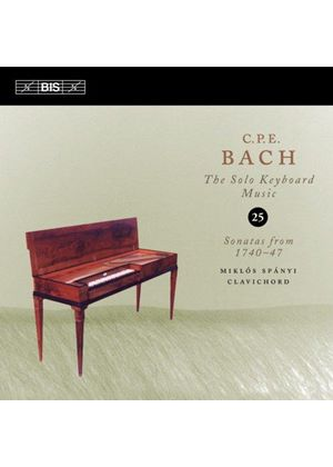 C.P.E. Bach: The Solo Keyboard Music, Vol. 25 (Music CD)