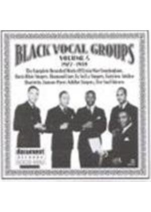Various Artists - Black Vocal Groups Vol.4 1927-1939