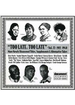 Various Artists - Too Late Too Late Vol.13 1921-1940