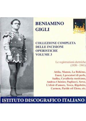 Gigli Complete Collection of Operatic Arias, Vol 3