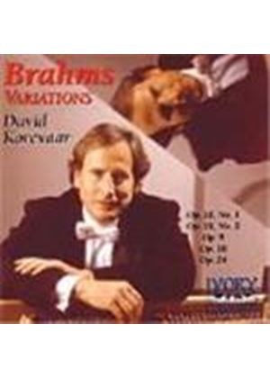 Brahms: Variations for Piano