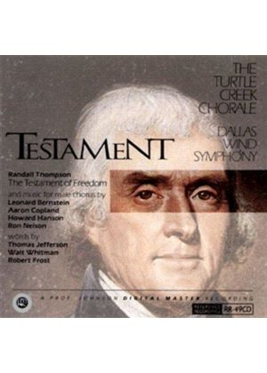 VARIOUS COMPOSERS - Testament - The Turtle Creek Chorale (Seelig, Dws)