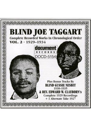 'Blind' Joe Taggart - Blind Joe Taggart Vol.2 1929-1934