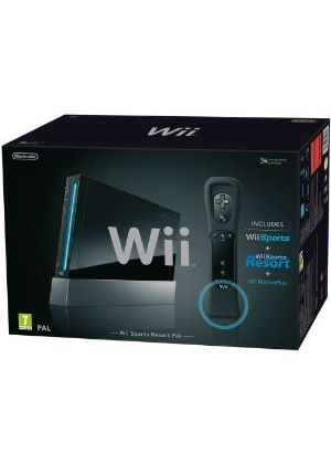 Limited Edition Black Nintendo Wii Console Inc Wii Sports Resort + Motion Plus (Nintendo Wii)