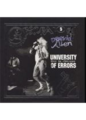 Daevid Allen & University Of Errors - Live In Chicago (Music CD)