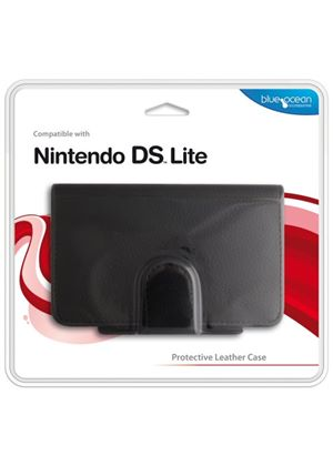 Blue Ocean Accessories - Black Leather Case for DS Lite (DS)